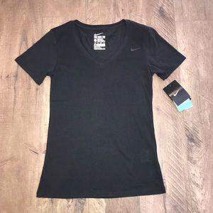 Nike Women's athletic cut Dri-fit black tee NWT
